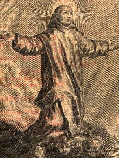 """Saint Bruno of Cologne"" von Justus Perrot - Breviarium Cartusiani ordinis: Ex ordinatione Capituli Gen. curâ R. P. D. Iusti [Perrot]. Printed 1642. Lizenziert unter Gemeinfrei über Wikimedia Commons - https://commons.wikimedia.org/wiki/File:Saint_Bruno_of_Cologne.png#/media/File:Saint_Bruno_of_Cologne.png"
